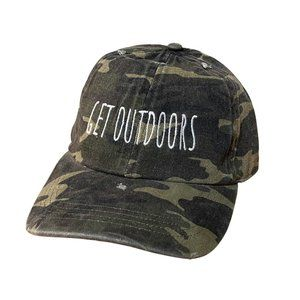GET OUTDOORS - Camo Green Baseball Hat Cap Unisex